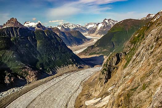 Glacier Row in Glacier Bay National Park Juneau Alaska by G Matthew Laughton