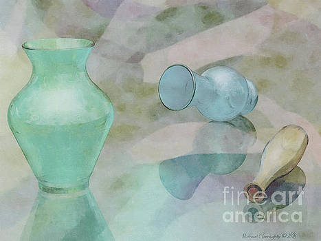 Glass Still Life Neutral Pastels - AMCG20181229 30 x 22.5 by Michael Geraghty