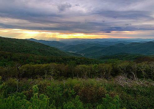 Glassmine Mountain Sunset by Norma Brandsberg