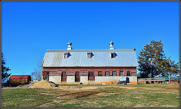 Glimmer Of Red Roof by Constance Lowery