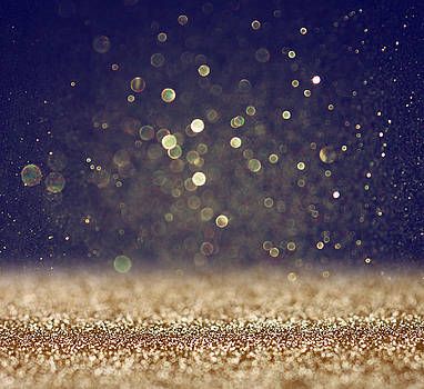 Glitter Vintage Lights Background by Tomertu