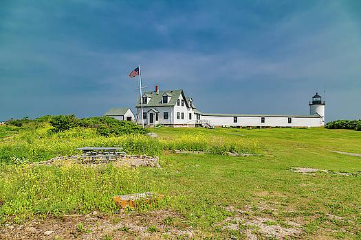 Goat Island Lighthouse Vibrant Day Landscape  by Betsy Knapp