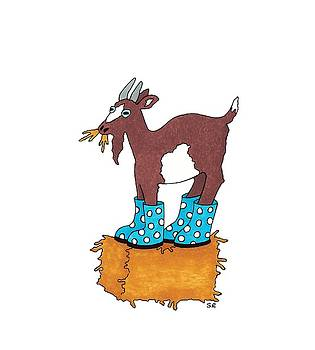 Goat Wearing Boots by Sarah Rosedahl