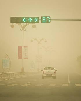 Gobi Desert Sandstorm Dunhuang Gansu China by Adam Rainoff