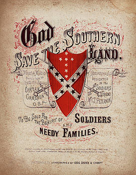 Daniel Hagerman - GOD SAVE the SOUTHERN LAND SHEET MUSIC COVER 1864