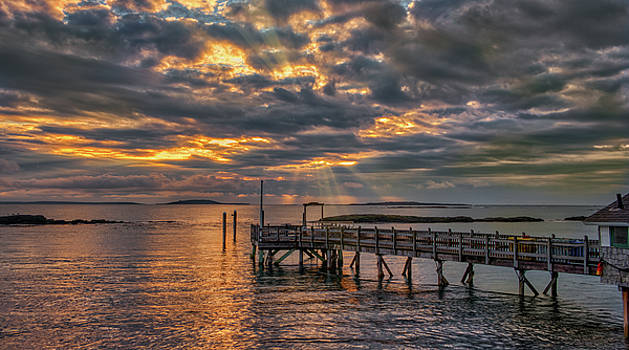 GodRays Over the Pier by Guy Whiteley