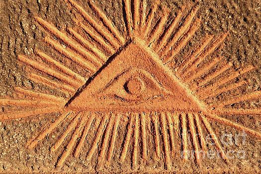 God's eye - old relief by Michal Boubin