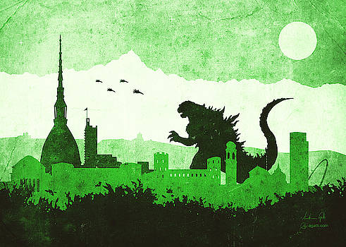 Andrea Gatti - Godzilla Turin green