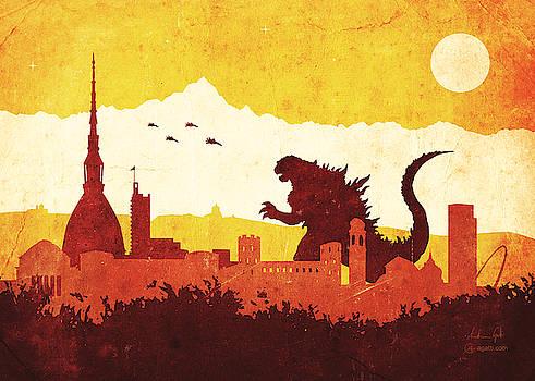 Andrea Gatti - Godzilla Turin orange