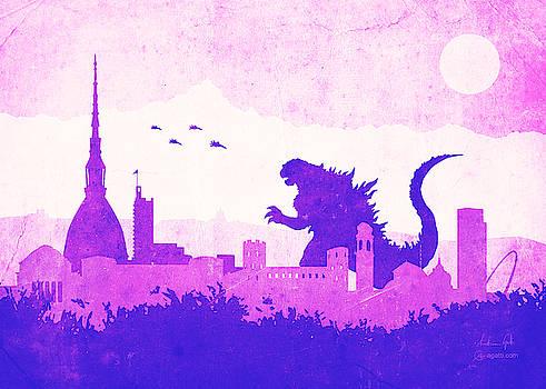 Andrea Gatti - Godzilla Turin purple