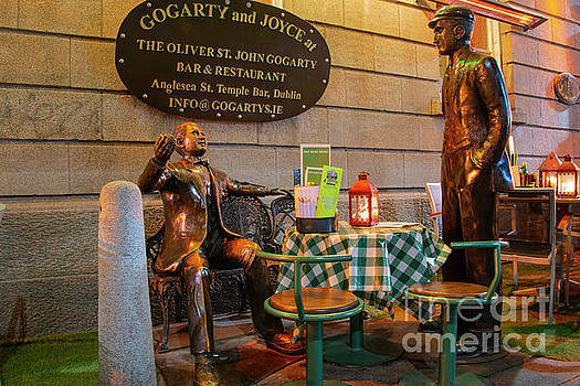 Bob Phillips - Gogarty and Joyce Statues Two