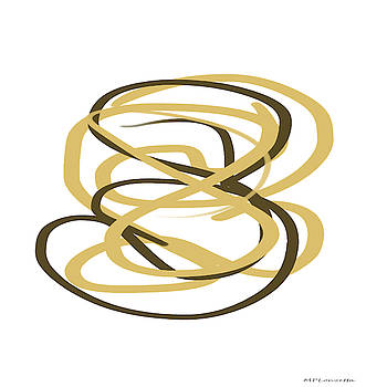 Gold and Black Abstract by Marian Palucci-Lonzetta