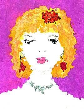 Gold and purple portrait by Steve Clarke