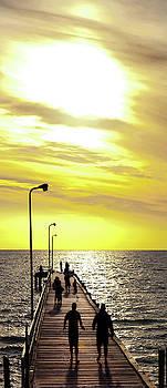Gold Sky Boardwalk by Sean Davey