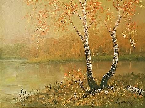 Golden autumn by Dusan Vukovic