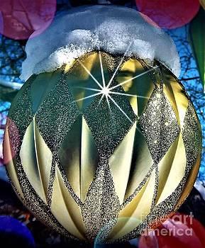Golden Christmas Ball by David Manlove