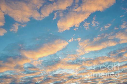 Golden clouds at sunset by Delphimages Photo Creations