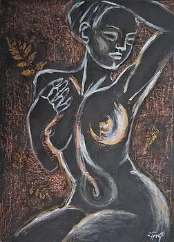 Golden Fern 1 - Female Nude by Carmen Tyrrell
