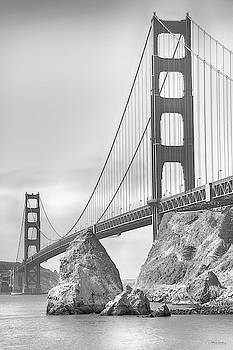 Golden Gate black and white by Debby Richards