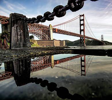 Golden Gate Bridge Reflected by Daniel Hagerman
