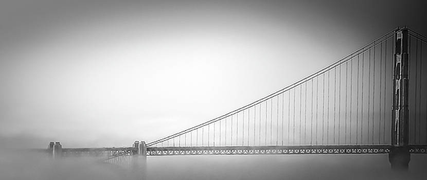 Golden Gate in Fog by Don Schwartz