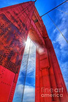 Golden Gate Look Up by Habashy Photography