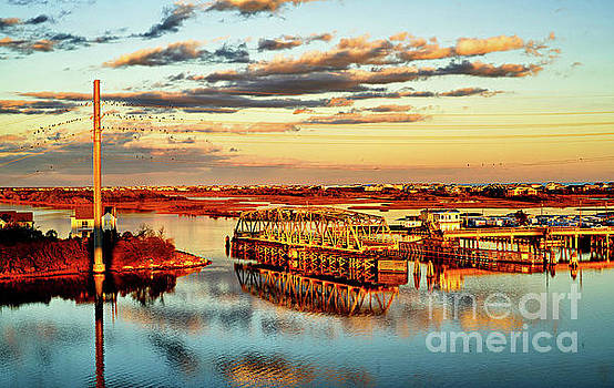 Golden hour bridge by DJA Images