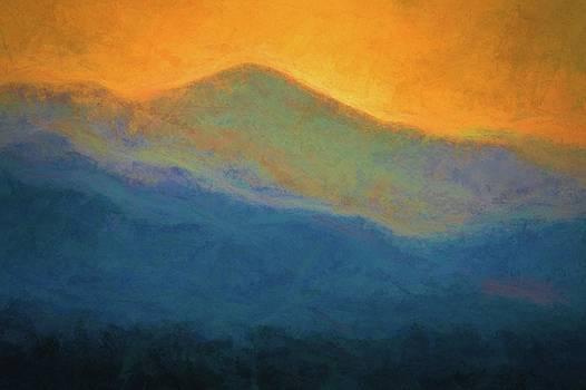 Golden Hour In The Bluye Ridge Mountains by Robert Meyerson