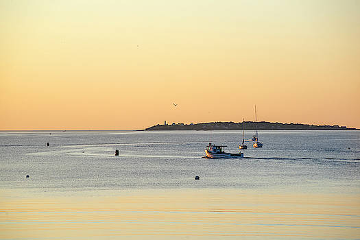 Toby McGuire - Golden light over Beverly MA and Bakers Island Sunrise