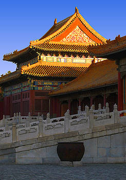 Golden roof at the Forbidden City, Palace Museum, Beijing, China by Steve Clarke