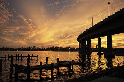Golden Sunset over the Severn River by Mark Duehmig