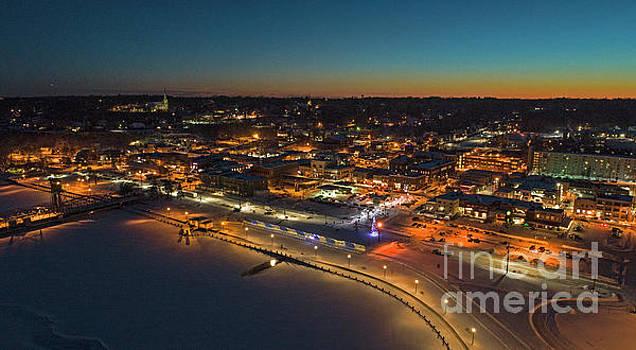 Good Night Stillwater Winter Sunset by Pictures Over Stillwater