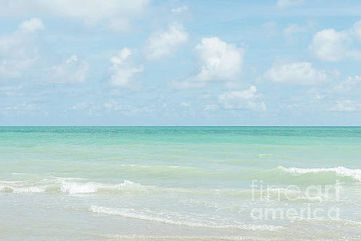 Gorgeous Day on the Beach with Clear Blue Sky and Ocean by Ana Garcia