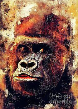 Gorilla animal by Justyna JBJart