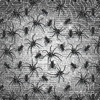 Robert Phelps - Goth Black and White Spider and Flies