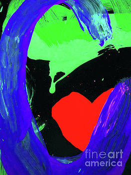 Sharon Williams Eng - Graffiti Abstract Red Heart 300