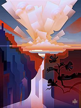 Garth Glazier - Grand Canyon Cloudburst 2