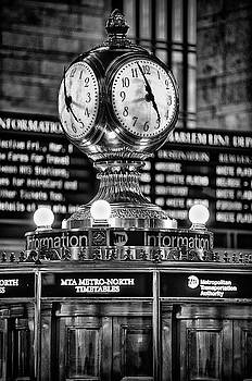 Grand Cerntral Terminal Clock No. 1 bw by Jerry Fornarotto