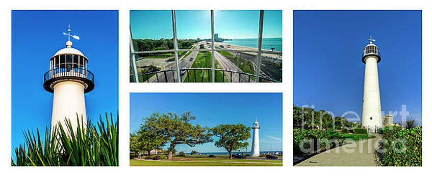 Ricardos Creations - Grand Old Lighthouse Biloxi MS Collage A1b