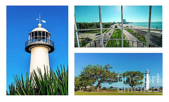 Ricardos Creations - Grand Old Lighthouse Biloxi MS Collage A1c