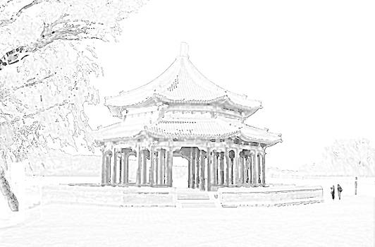 Grand Pavilion sketch, Beijing, China by Steve Clarke