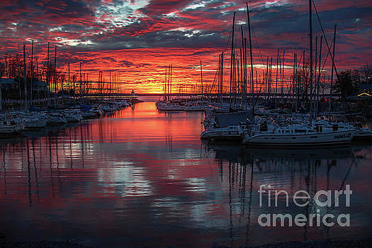 Grand Rivers at Sunset 2 by Warrena J Barnerd
