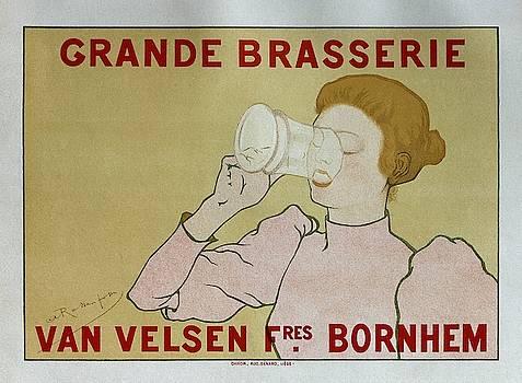 Grande Brasserie, 1894 Belgian Vintage Brewery Poster by Armand Rassenfosse