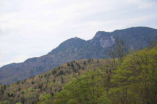 Grandfather Mountain View From The Parkway by Cathy Lindsey