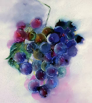 Grape Harvest Watercolor Painting by Lisa Kaiser