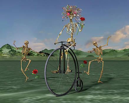 Grateful Dancing Cheer Skeletons by Betsy Knapp