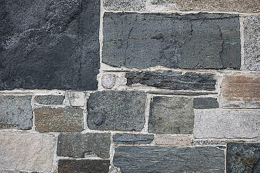Gray Rock Wall #4 by Morgain Bailey