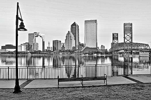 Frozen in Time Fine Art Photography - Grayscale Jacksonville at Riverside