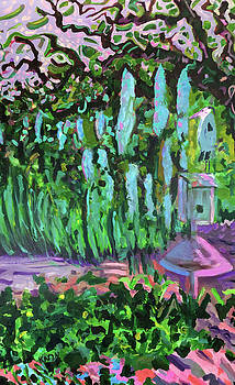Great Blue Contemplates Spanish Moss by Karyn Drum
