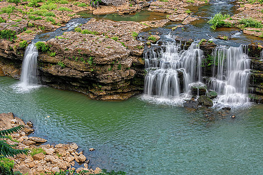 Great Falls In Rock Island State Park by Jim Vallee